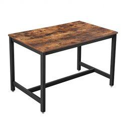 Mesa de Jantar Estilo Rústico e Industrial 120 x 75 x 75 cm