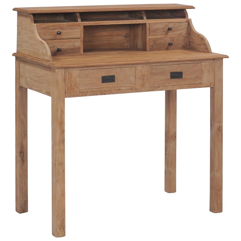 Secretária 90x50x100 cm madeira de teca maciça