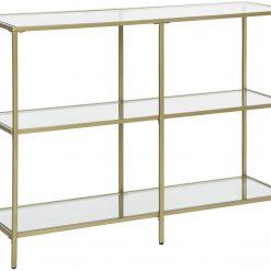 Mesa de Consola Dourada 100 x 30 x 73 cm