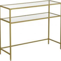 Mesa de Consola Dourada 100 x 35 x 80 cm