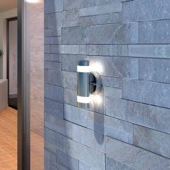 Aplique LED de parede interior exterior / Aço Inoxidável