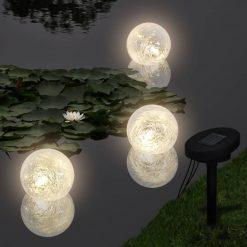 Bola Luz LED Solar Flutuante para Piscina Lagoa