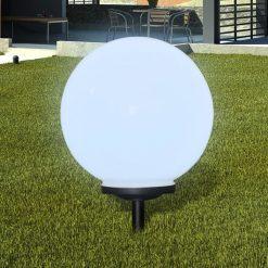 Bolas solares com pico-de-chão /  peça