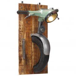 Candeeiro de parede c/ design de scooter ferro/mangueira maciça